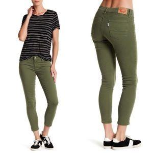Levi's 711 Skinny Ankle Jean in Luxe Bronze Green